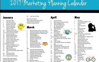 2019 Marketing Planning Calendar