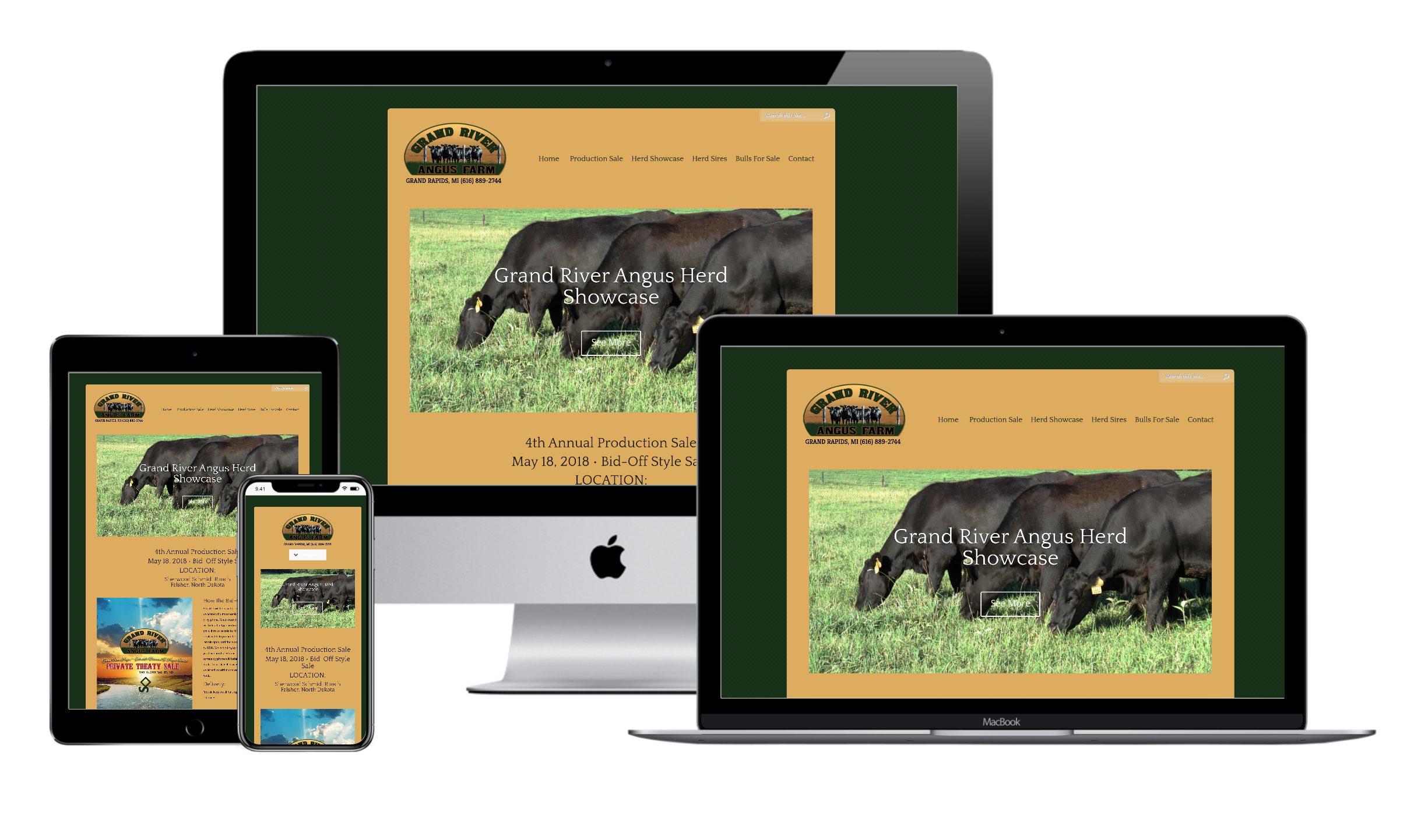 Grand River Angus Farm Website Design by VanDenBerg Web + Creative